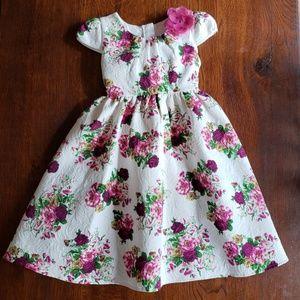 Gorgeous Jacquard Dress Girls 8